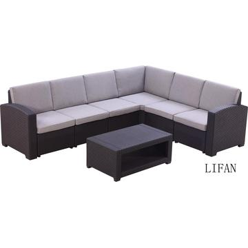 Rattan 7 seats conversation outdoor sofa set