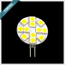 2W 12pcs 5050SMD G4 LED Light Round 170-210LM