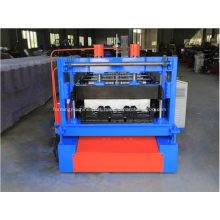 Metal floor covering deck tile forming machine