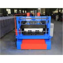 Máquina formadora de ladrilhos para deck de metal