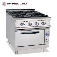 Mejor diseño Alto rango de gas de combustión eficiente con 4 quemadores y horno Calentador de rango CE