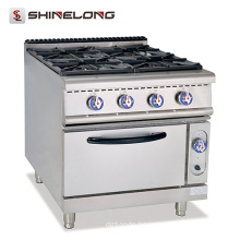 Better Design High Efficient Combustion Gas Range With 4 Burner & Oven CE Range Heater