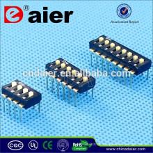 Daier 1 ~ 12 Position Schwarz Kunststoff IC Typ Dip-Schalter