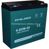 DZM Series VRLA Gel Type E-Bike Battery, 12V 20Ah at 2hr rate