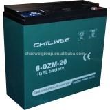 DZM Series VRLA Gel Type E-Bike Battery, 12V 20Ah at 2hr rate