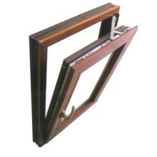 Alliage d'aluminium Bottom-Hung extérieur Swing Window