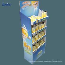 Papel material Cartón Papel Mostrador de mostrador para champú para el cabello