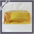 Dark Yellow Cubic Zirconia Gemstone Raw Material
