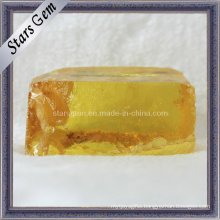 Dark Yellow Cubic Zirconia Gemstone Raw Material