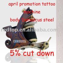 Handmade Damasco Steel Tattoo Machine Liner Gun NOVO EUA