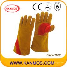 Перчатки для сварки из перламутровой кожи с натуральной кожей из коричневой кожи (11117)