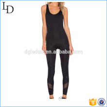 2017 New design with mesh slim fit women jumpsuit yoga saport suit