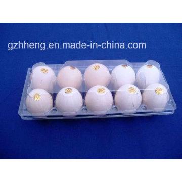 Supermercado caja de plástico de claro Blister de huevos (bandeja del huevo del PVC)