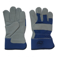 Cow Split Leather Workding Gloves for Miners