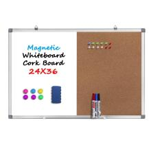 Combination Dry Erase White board Bulletin Cork Board