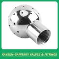 Boule de pulvérisation rotative sanitaire à filetage femelle en acier inoxydable
