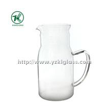 Tetera de vidro de parede simples transparente por SGS (KL140218-79)