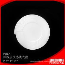 unterschiedlicher Größe feinem Porzellan Abendessen set Geschirr Teller