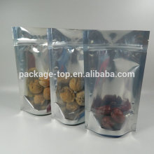 Front Clear Euro Hole Standup Dog Food Plastic Bag Zip