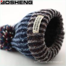 Unisex malha de inverno beanie cap chapéu de esqui com bola pomb