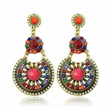 Trendy Bohemia Style Resin Stone Earring (XER13086)