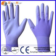 SUNNYHOPE China Factory 13g seamless pu coated gloves