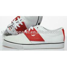 estilo popular blanco casual zapatos de skate para hombres