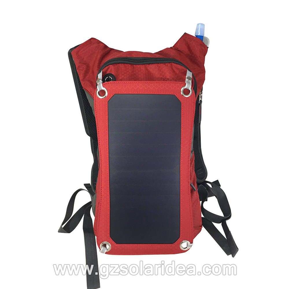Red energy solar charger bags
