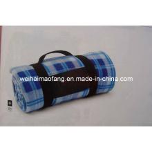 Cobertor de piquenique de viagem portátil Polar do velo com bordado para promoção