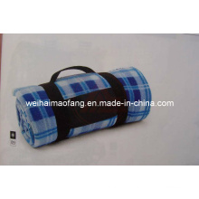 Портативный флис путешествия пикника одеяло с вышивкой для продвижения