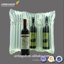 Alta calidad superventas columna de aire inflables promocionales correo bolsa para vino tinto