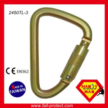 Industrial Large Twist Lock Captive Pin Triangle Acier ANSI Carabiner Wholesale