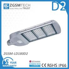 Vidrio cubierta 180W LED luz de calle con el Ce RoHS