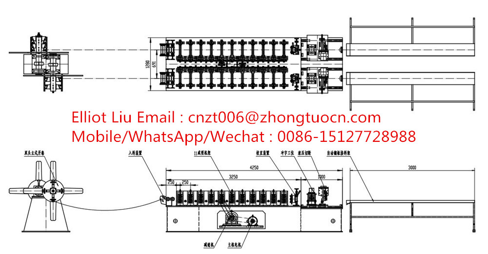 Ceiling system roll forming machine  1