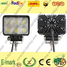 Luz de trabajo LED de 12V DC, luz de trabajo LED Epsitar de 6PCS * 3W, luz de trabajo LED Spot / Foold para camiones