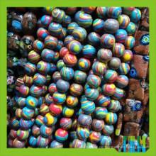 Mode Glas synthetische Edelstein Opal Runde Perlen