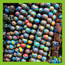 Fashion glass synthetic gemstone opal round beads
