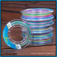 Ligne colorée de PE de haute qualité 100PCS / petit pain (10m une couleur)