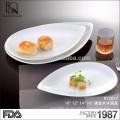 Online-Shopping hochwertiges Hotel / Restaurant Geschirr Obst Porzellan Platte weiß Porzellan Platte
