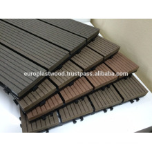 Interlock waterproof wpc decking tiles