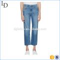 Blue Flip Open classic stonewash Jeans skinny blue jeans de moda