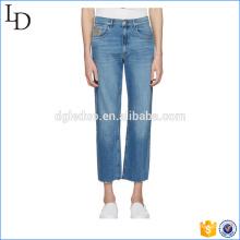 Синий флип Открытое классический покрасить джинсы узкие голубые мода джинсы