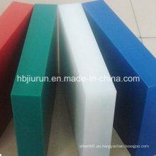 Tablero / hoja de polipropileno PP grueso colorido