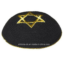 Customized Hand Crochet Kippah, Knitted Kippot Yarmulke, Knitted Kippah