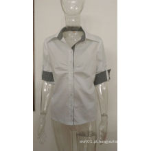 2016 última moda mulher de design formal de trabalho de negócios camisa de algodão