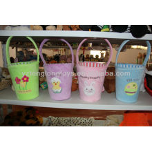 Lovely Home Practical Tidy Kids Flower Plush Bucket in Stock