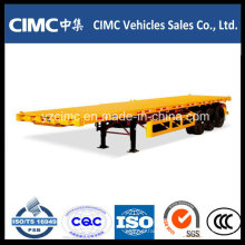 Cimc 3 Axle 40ft Flatbed Semi Trailer / Flat Bed