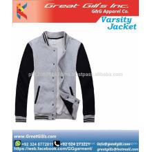 Kundenspezifische Stickerei Winter College Jacke Bomberjacke / Baseballjacke / Uni-Jacke