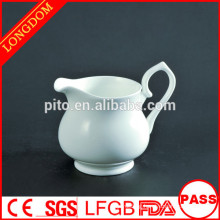 2015 New Design factory direct elegant white ceramic milk jug creamer pot