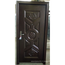 Hot Sale Power Coated Steel Security Door pour l'Irak